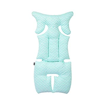 Breathable Organic Cotton Seat Pad Liner Head & Body Support Pillow for Car Seats and Strollers Baby Floor Seats & Loungers Activity & Entertainment