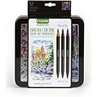 Crayola Brush &Amp Detail Dual Tip Markers Calligraphy Set