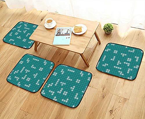Unit Eames Desk (UHOO2018 Elastic Cushions Chairs Retro Games Mosaic Assembled Unit for Living Rooms W29.5 x L29.5/4PCS Set)