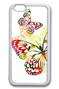 Brian114 Colorful Butterfly 3 Soft Rubber Phone Case for the iPhone 6 Plus White