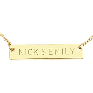 a52be649613 Personalized Necklace Name Plate Bar Women Necklace in Gold Bridesmaid Gift  Initial Necklace Your Name Necklace