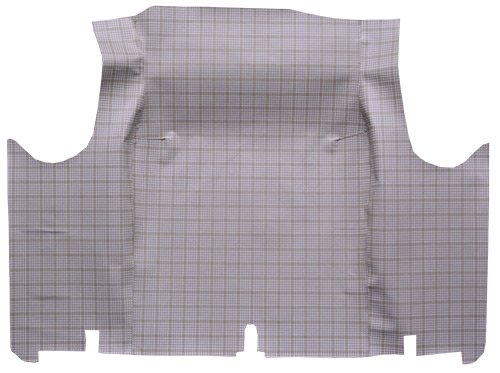 1967 Ford Fairlane 1pc Complete Trunk Mat - 26F Blk & Gray Basket - Ford Fairlane Trunk