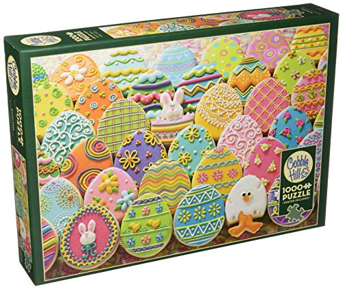 Cobblehill 80027 1000 pc Easter Eggs Puzzle, Various