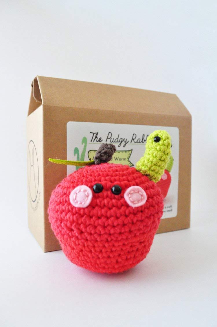DIY Beginner Crochet Kit (Apple)
