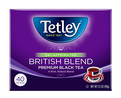 Tea Tetley Decaf (Tetley Premium Black Tea, Decaffeinated British Blend, 40 Tea Bags (Pack of 6))