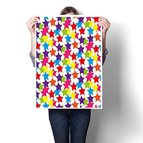 Wall Art Painting,Little Rainbow Colored Funky Stars for sale  Delivered anywhere in USA