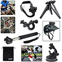 EEEKit 6in1 Bike Car Sports Mount Kit for Contour ROAM ROAM2 ROAM Plus 2 ROAM3 Action Camera,Selfie Stick Handheld Monopod/Handlebar/Helmet/Car Mount