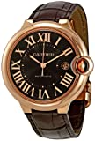 Cartier Ballon Bleu Brown Dial 18kt Rose Gold Case Automatic Mens Watch W6920037