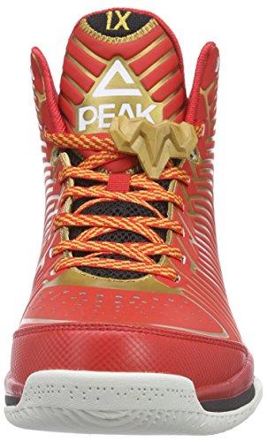Peak Sport Europe Peak Basketballschuh Battier IX, Scarpe da Basket Uomo Rosso (Red/Golden)