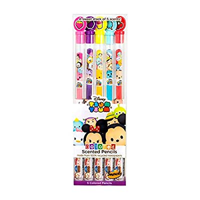 Scentco Disney Tsum Tsum Colored Smencils 5-Pack of Scented Color Pencils by