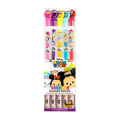 Disney Tsum Tsum Colored Smencils 5-Pack of Scented Coloring Pencils