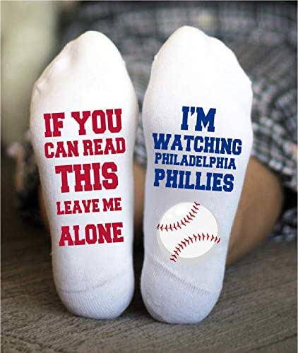 Amazon.com: Philadelphia Phillies Socks Funny Birthday