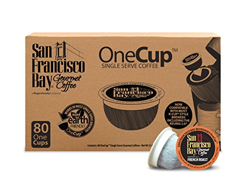 San Francisco Bay OneCup, French Roast, 80 Be confident of- Single Serve Coffee, Compatible with Keurig K-cup Brewers
