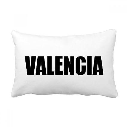 Amazon.com: DIYthinker Valencia Spain City Name Throw Lumbar ...