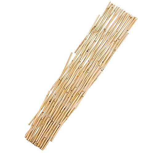 6' Expandable Bamboo Trellis Fence - A.M. Leonard Expandable Natural Bamboo Trellis