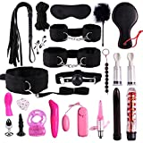 VANNERT New Plush Set Sexy Toy Suit 22 PCS Nylon Leather SM Kit Special Bundled Binding Set for Sexy Fun