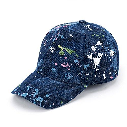 JOOWEN Unisex Fashion colorful Baseball Cap Freestyle 100% Denim Adjustable Sports Hat (Fashion Baseball)