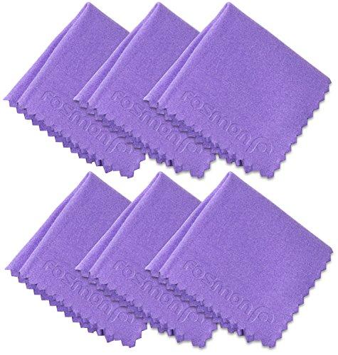 Microfiber Cleaning Cloths , Fosmon 4 x 4 inch Dust Rag Towe