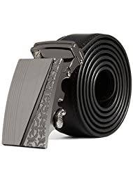 Susenstone Men Leather Automatic Buckle Belts Fashion Waist Strap Belt Waistband