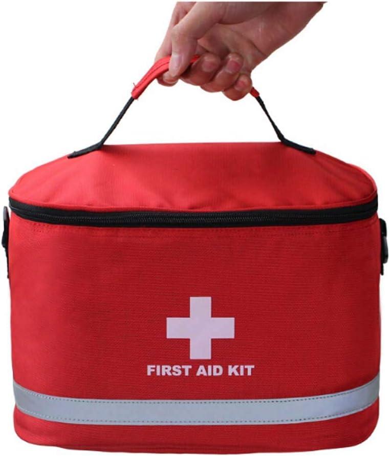 Cluster Kit de Primeros Auxilios de la Estrella Mochila Mochila de Emergencia médica organizaciones turísticas de Gran Espacio de Almacenamiento de Senderismo Autocaravana (Rojo)