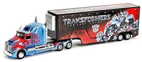 Jada 98193 Western Star 5700 XE Optimus Prime Hauler Transformers 5 1/64 Diecast Model Car (Optimus Prime Trailer)