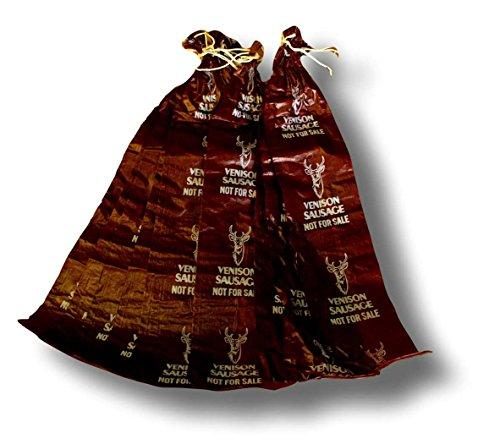 Fibrous Casings - 10 Per Bag - Pre-Printed Venison Mahogany 2.5 Inches by 20 Inches