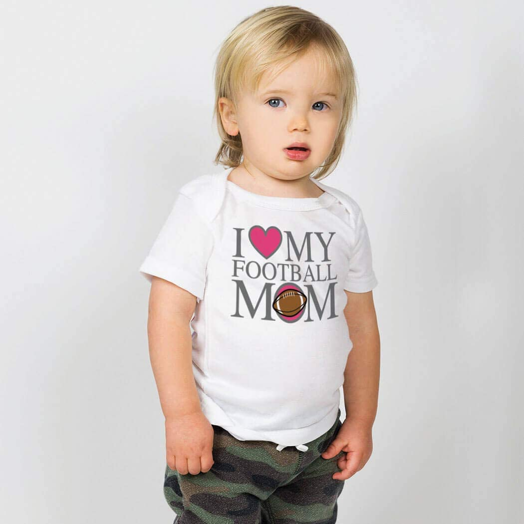 Football Baby /& Infant T-Shirts I Love My Football Mom Colors /& Sizes
