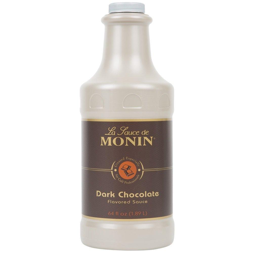 Monin Dark Chocolate Sauce (1 Single 64 Ounce Bottle-Half Gallon-1.89-liter bottle)