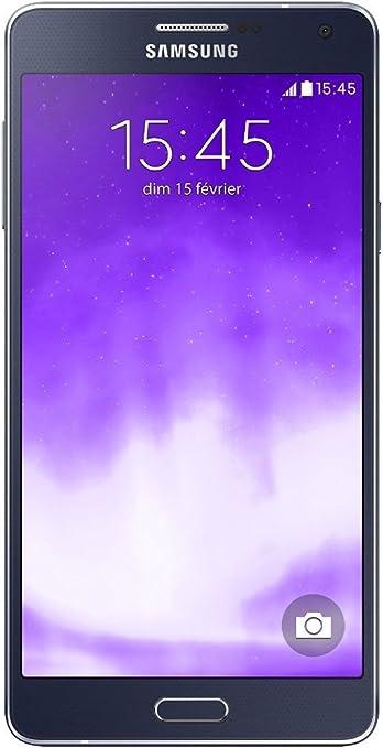 Samsung Galaxy A7 Smartphone débloqué 4G (Ecran : 5,5 pouces - 16 Go - Simple SIM - Android 4.4 Kitkat) Noir