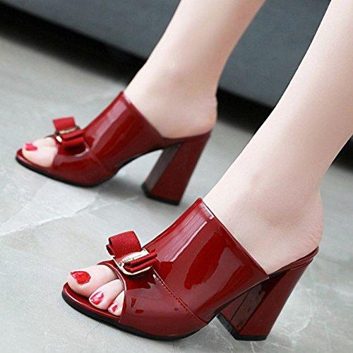 Red Mode su Donne Wine Heels Mules Scivolare Melady Sandali qwZ8Tzx