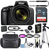 Nikon COOLPIX P900 Digital Camera 83x Optical Zoom, Built-In Wi-Fi, NFC, and GPS + 32GB Sandisk High Speed Memory Card + HD Filters + Camera Carrying Bag + Tripod (Certified Refurbished)