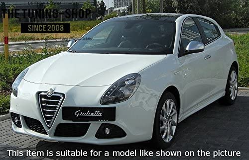 The Tuning-Shop Ltd For Alfa Romeo Giulietta 2012 Shift /& E Brake Boot Black Suede Red Stitching