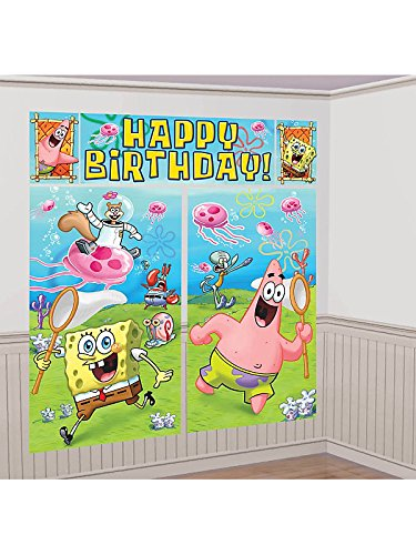Spongebob Squarepants Giant Scene Setter Wall Decorating Kit (5pc)