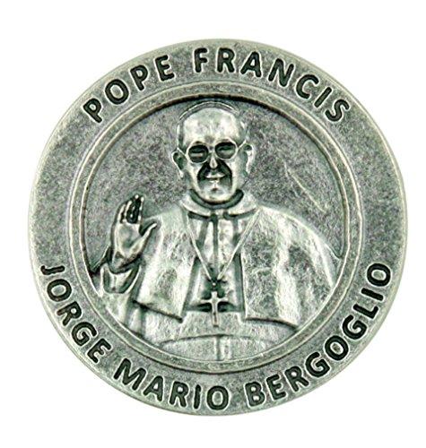 Catholic Leader Pope Francis Jorge Mario Bergoglio Pocket Token with Prayer