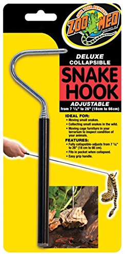 51AMHEvLR0L - Zoo Med Deluxe Collapsible Snake Hook