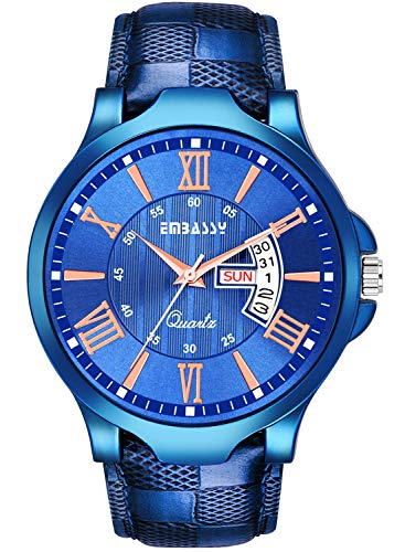 Embassy Casual Day and Date Analog Watch for Boys