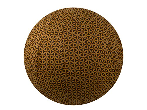 65cm Exercise Ball Cover, yoga ball cover, balance ball cover, birthing ball cover, 100% cotton - Chocolate Flower of Life by Global Groove Life