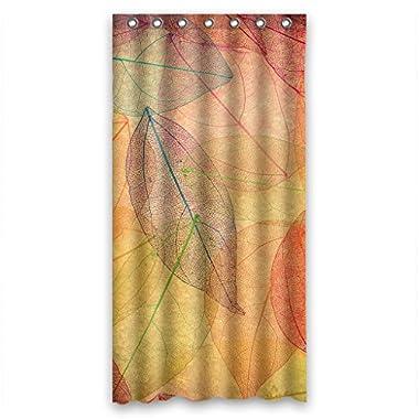 Custom Waterproof Bathroom Shower Curtain 36  x 72  Beautiful Red Maple Leaves