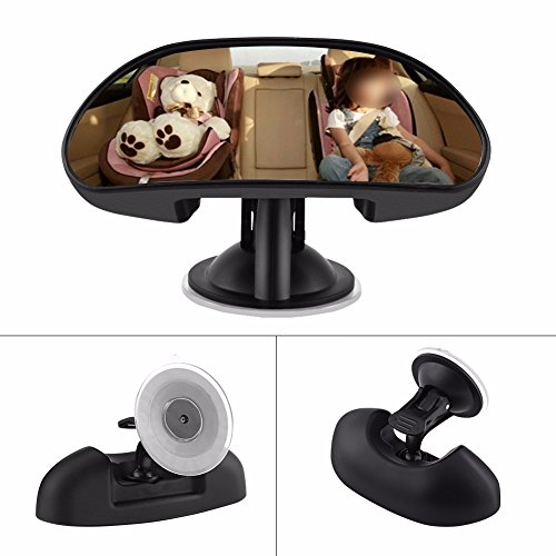 Qunqi Baby Car Mirror Rear View Baby Mirror with Wide Angle 360 Degree Rotatable 5.78