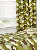 Army Camouflage 54' Drop Lined Curtains