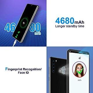 "Unlocked Smartphones, Blackview A80 Pro, Dual sim Unlocked Cell Phones, Bundle Andorid 9.0 Pie 4GB+64GB ROM, 6.5"" FHD, Fingerprint Face Detection, 4680mAh high Capacity Battery, at&t Phone on Cricket"