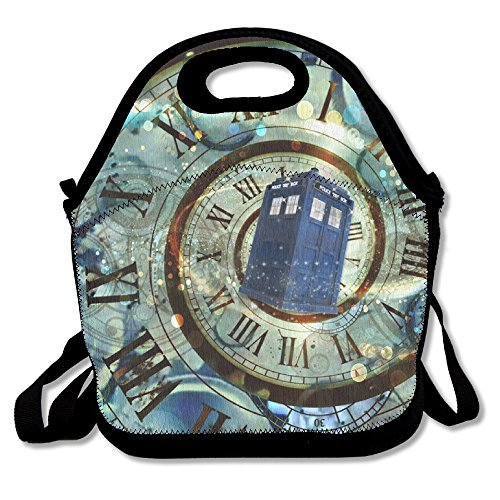 SuperWW Doctor Who Box Lunch Bag Tote Handbag]()