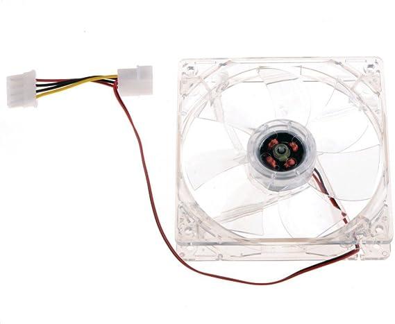 VENTILADOR COOLER TRANSPARENTE PARA PC, 12 V, 8 cm LINQ CONECTOR 4 ...