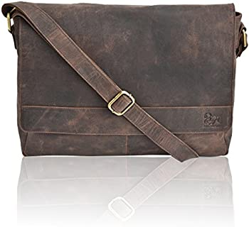 Estalon Leather Messenger Bag