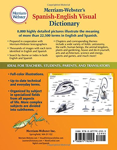 Merriam-Webster\'s Spanish-English Visual Dictionary, Newest edition ...