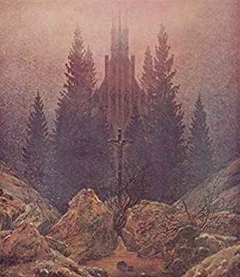 The Cross in the Mountains by Caspar David Friedrich. 100% Hand Painted. Oil On Canvas. Reproduction. (Unframed and Unstretched).