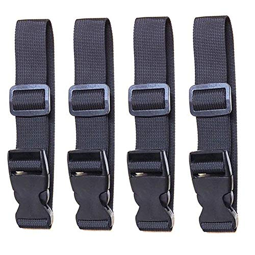 dream_light 4 Pack Add a Bag Luggage Strap Adjustable Suitcase Attachment Belt Straps Accessories for Connecting Luggage Draw-Bar Box Backpack Handbag Briefcases Carts Fixed Hang Buckle