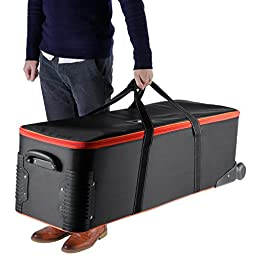Neewer® Photo Studio Equipment Carry Bag,41x13x12inch/103x33x30CM Carrying Trolley Case, Padded Compartment, Wheel, Handle, for Light Stand, Tripod, Strobe Light, Umbrella, Photo Studio