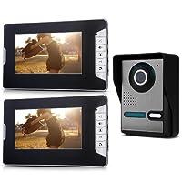 7 Farb-TFT-LCD 2 Monitor Video Türsprechanlage Türklingel IR Gegensprechanlage