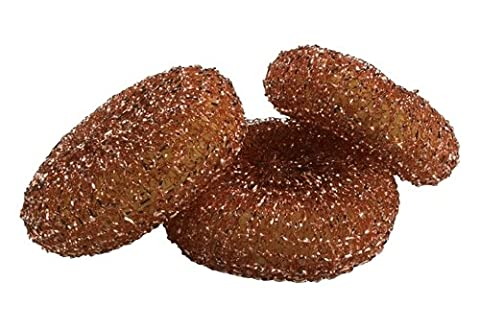 Dawn 437779 100% Copper Mesh Scrubbers, 3 Count (Pack of 3)